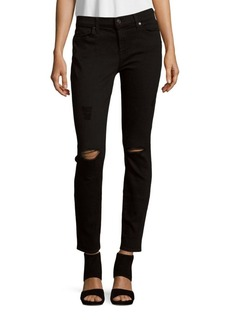 7 For All Mankind Gwenevere Solid Ankle-Length Jeans
