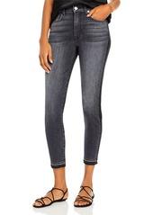 7 For All Mankind Half Coated Ankle Skinny Jeans in Vintage Black