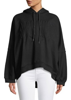 7 For All Mankind High-Low Dolman Embroidered Hoodie