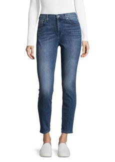 7 For All Mankind High Waist Ankle-Cut Jeans