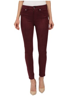 7 For All Mankind High Waist Ankle Knee Seam Skinny in Merlot
