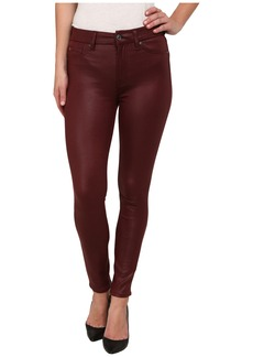 7 For All Mankind High Waist Ankle Knee Seam Skinny in Merlot Crackle