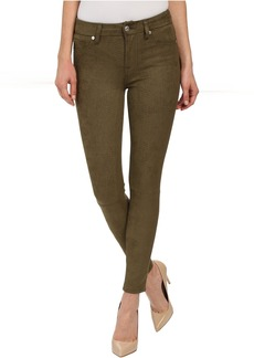 High Waist Ankle Knee Seam Skinny in Olive