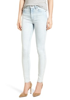 7 For All Mankind® High Waist Ankle Skinny Jeans (Bleached Out)