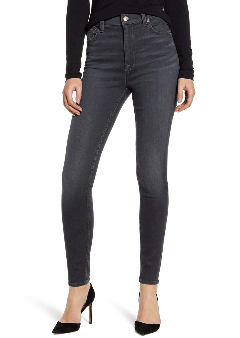 7 For All Mankind® High Waist Ankle Skinny Jeans (Classic Grey)
