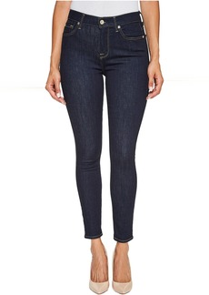 7 For All Mankind High Waist Ankle Skinny Jeans in Dark Rinse
