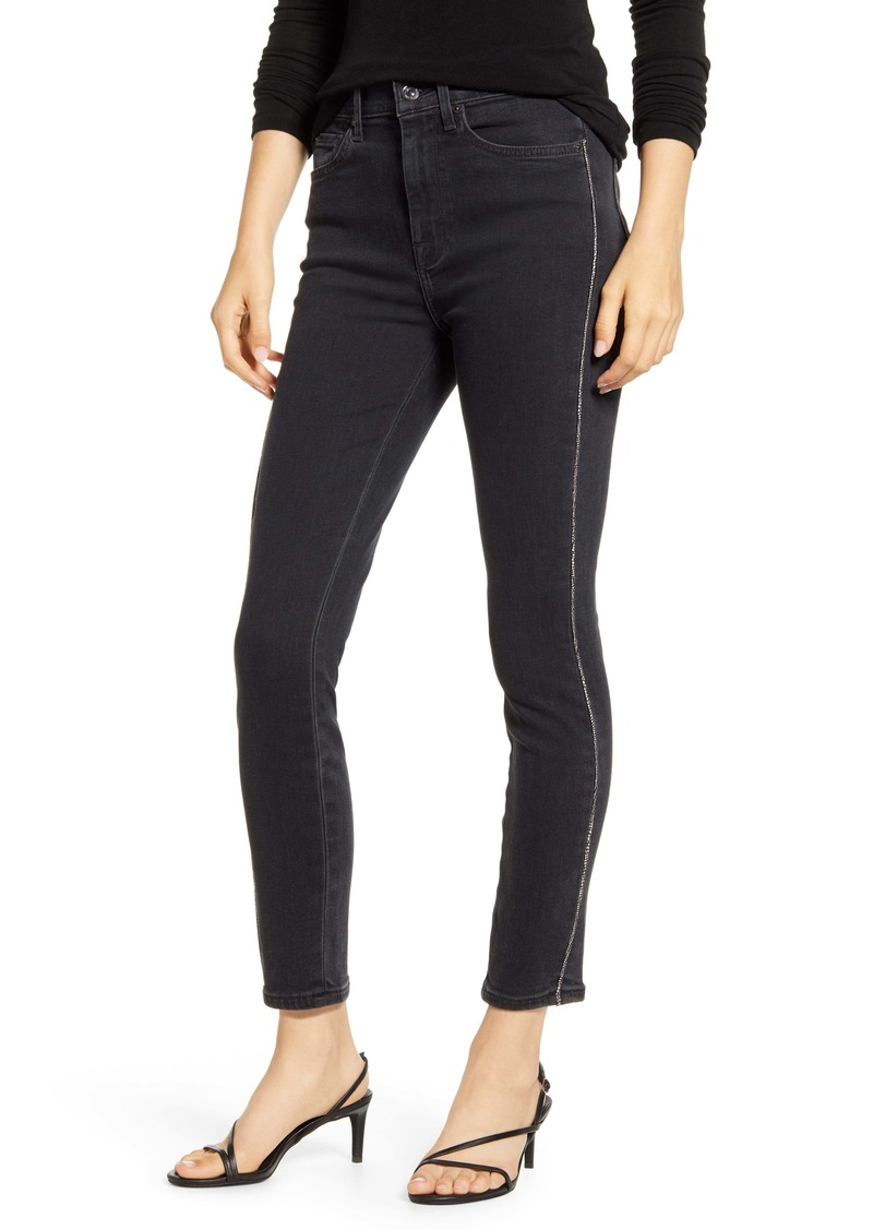 7 For All Mankind® High Waist Ankle Skinny Jeans (Moonshadow)