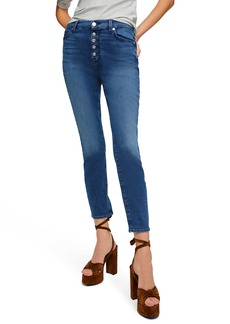 7 For All Mankind® High Waist Ankle Skinny Jeans (Peace Blue)