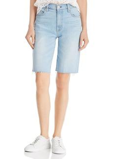 7 For All Mankind High-Waist Bermuda Denim Shorts in Roxy Lights