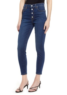 7 For All Mankind® High Waist Crop Skinny Jeans (Fletcher Drive)