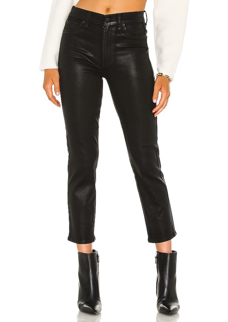 7 For All Mankind High Waist Crop Straight Coated