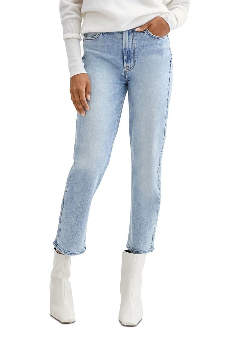7 For All Mankind High Waist Cropped Straight Leg Jeans in Aspen
