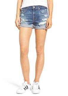 7 For All Mankind® High Waist Cuffed Denim Shorts (Serratoga Bay 4)
