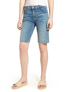 7 For All Mankind® High Waist Denim Bermuda Shorts (Desert Oasis)