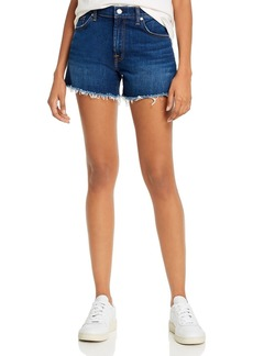 7 For All Mankind High-Waist Denim Shorts in Fletcher Drive