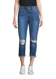 7 For All Mankind High-Waist Distress Josefina Jeans