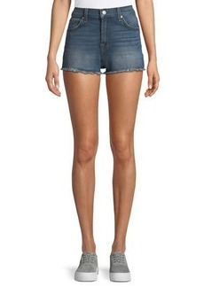 7 For All Mankind High-Waist Distressed Cutoff Shorts