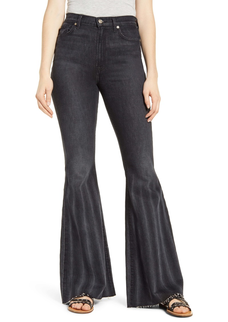7 For All Mankind® High Waist Pleated Mega Flare Jeans (Willow)