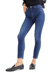 7 For All Mankind High Waist Skinny Ankle Jeans in B(air) Silk Catalina