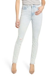 7 For All Mankind® High Waist Skinny Jeans (Grand Street Destroyed)
