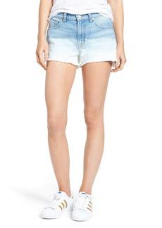 7 For All Mankind® High Waist Step Hem Denim Shorts (Ocean Breeze)