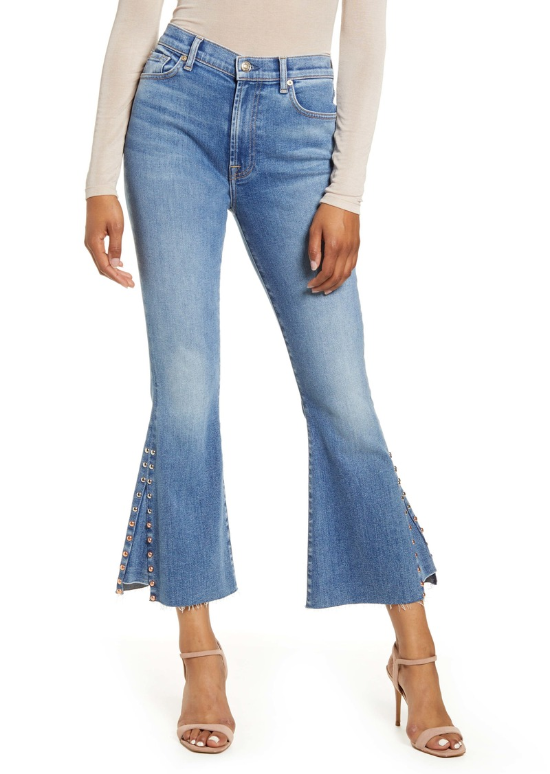 7 For All Mankind® High Waist Stud Detail Kick Flare Ankle Jeans (Luxe Vintage Beau Blue)