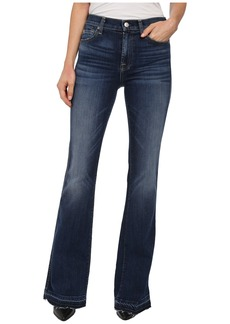 7 For All Mankind High Waist Vintage Bootcut w/ Released Hem in La Palma Blue