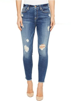 7 For All Mankind High Waisted Ankle Skinny w/ Release Hem in Serratoga Bay
