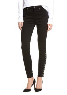 7 For All Mankind® Hook Hem High Waist Ankle Skinny Jeans