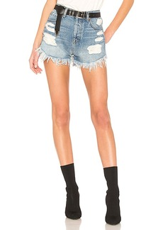 7 For All Mankind HW Cut Off Short With Scallop Frayed Hem