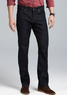 7 For All Mankind Jeans - Carsen Straight Fit Jeans in Dark & Clean