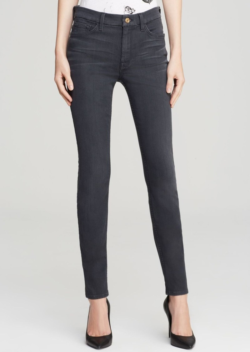 7 For All Mankind Jeans - High Waist Ankle Skinny in Bastille Grey