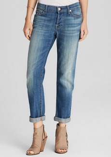 7 For All Mankind Jeans - Josefina Boyfriend in Bright Broken Twill