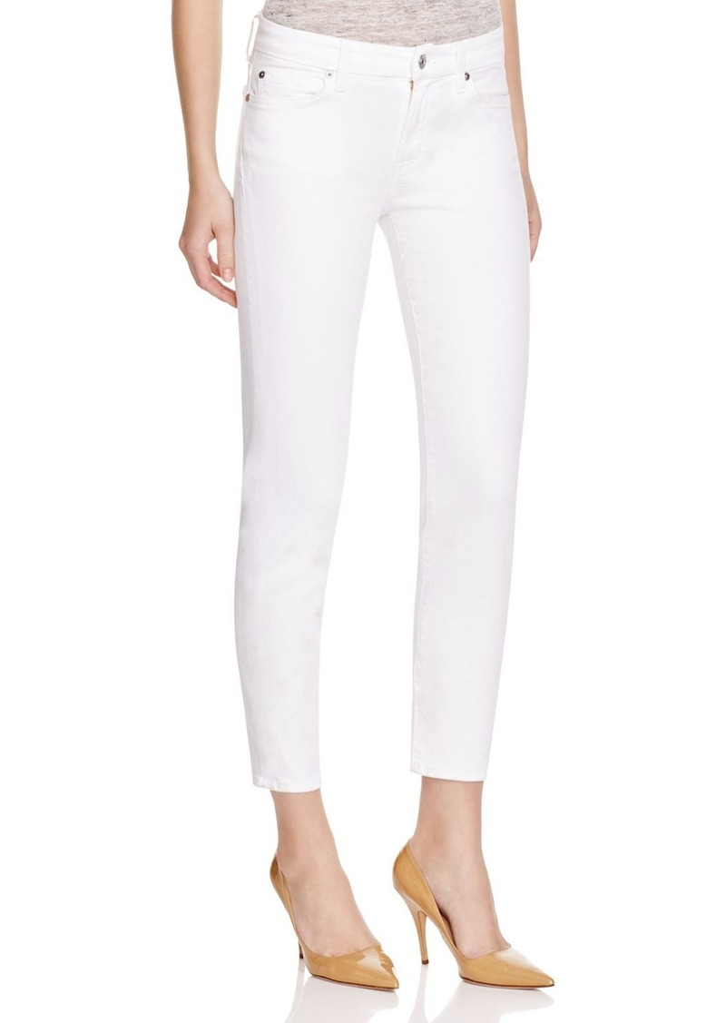7 For All Mankind Kimmie Crop Skinny Jeans in Clean White
