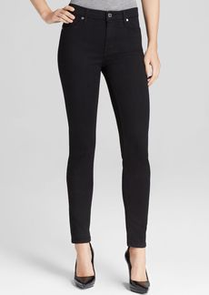7 For All Mankind Jeans - The Slim Illusion Luxe High Waist Skinny in Black