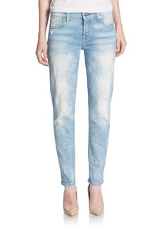 7 For All Mankind Josefina Distressed Boyfriend Jeans