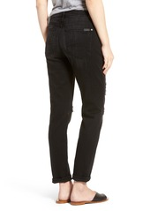 7 For All Mankind® Josefina Boyfriend Jeans (Black Ocean Broken Twill)