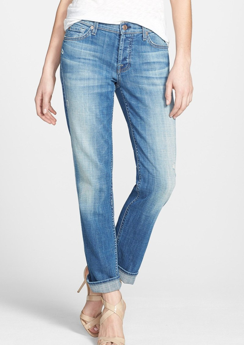 7 For All Mankind® 'Josefina' Boyfriend Jeans (Bright Light Broken Twill)
