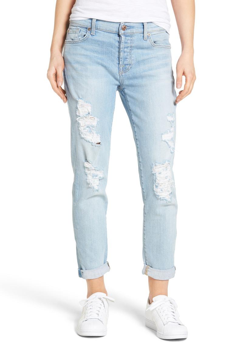 7 For All Mankind® 'Josefina' Boyfriend Jeans (Ocean Breeze)