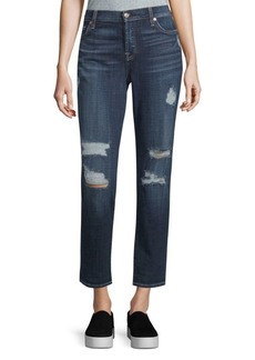 7 For All Mankind Josefina Cropped Boyfriend Jeans