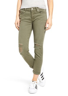 7 For All Mankind® Josefina Destroyed Boyfriend Jeans (Sun Bleached Olive)
