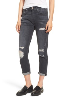 7 For All Mankind® Josefina Destroyed High Waist Jeans (Vintage Bedford Black)