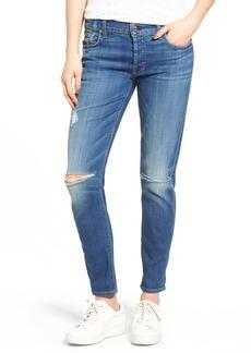 7 For All Mankind® Josefina Distressed Boyfriend Jeans (Barrier Reef Broken Twill 2)
