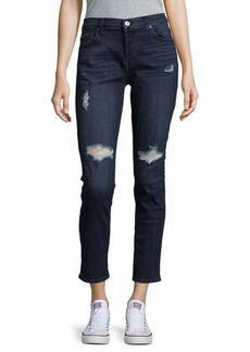 7 For All Mankind Josefina Distressed High-Rise Jeans