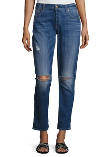 7 For All Mankind Josefina Distressed Slim Boyfriend Jeans