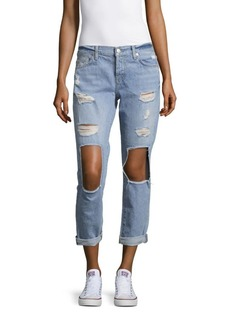 7 For All Mankind Josefina Folded Cuffs Boyfriend Jeans