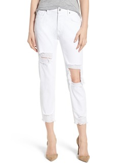 7 For All Mankind® Josefina High Waist Boyfriend Jeans (White Fashion 2)
