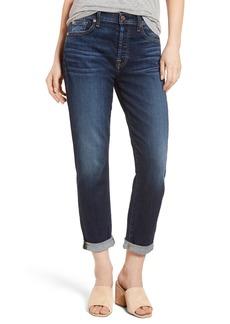 7 For All Mankind® Josefina High Waist Crop Boyfriend Jeans (Aggressive Madison Ave)