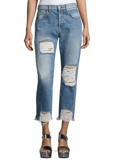 7 For All Mankind Josefina High-Waist Destroyed Jeans