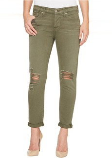 7 For All Mankind Josefina Jeans w/ Destroy in Olive